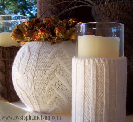 Sweater vase covers