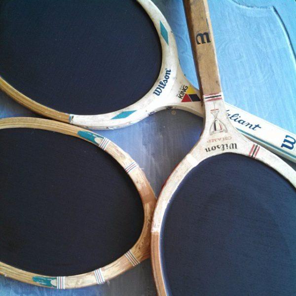 Tennis anyone - tennis racquet chalkboards
