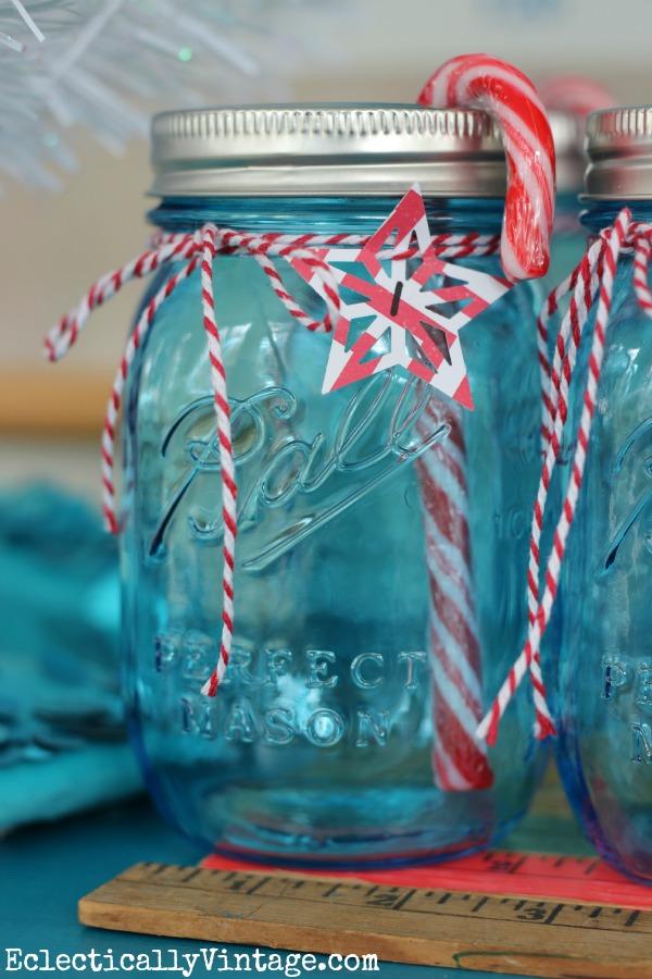 Countdown to Christmas - Mason Jar Advent Calendar Craft kellyelko.com