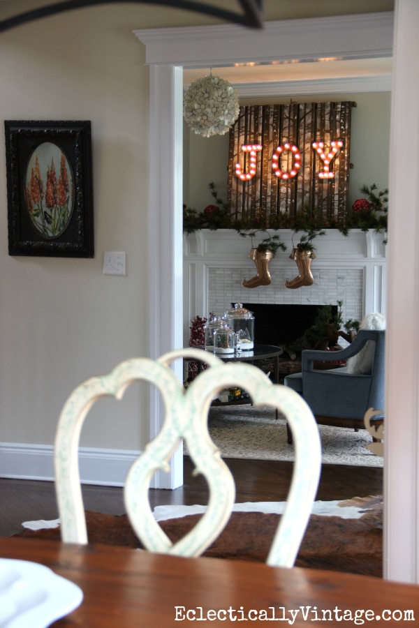 Beautiful Christmas home tour eclecticallyvintage.com
