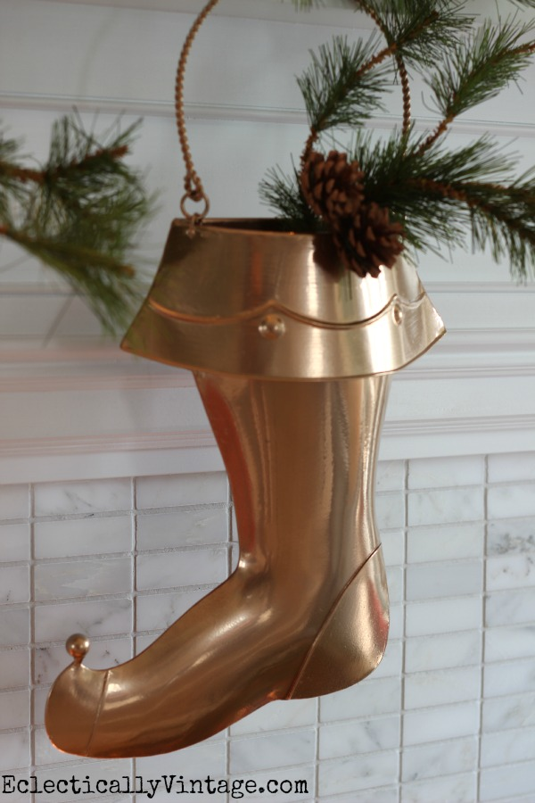 Create your own custom colors for your holiday home - love the copper stocking eclecticallyvintage.com
