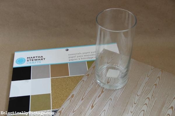 Faux wood grain paper - love the shimmer kellyelko.com