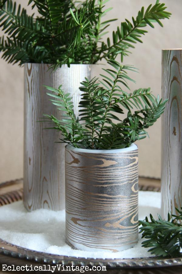 Make a faux wood vase kellyelko.com