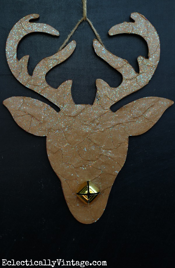 Fun Christmas Craft Ideas - Make this Reindeer Silhouette kellyelko.com