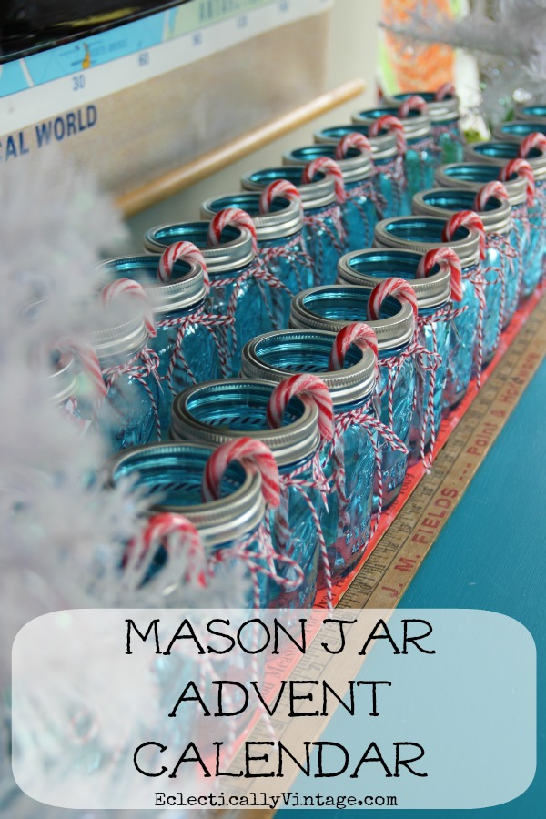Fun Christmas Craft - Make a Mason Jar Advent Calendar!  kellyelko.com