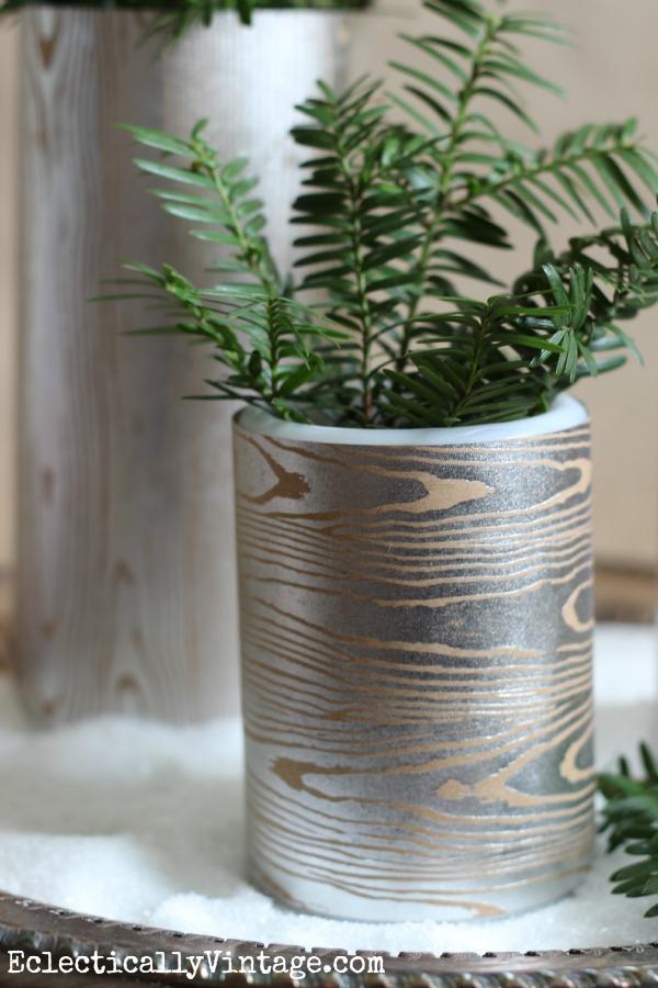 Make a wood grain vase - kellyelko.com