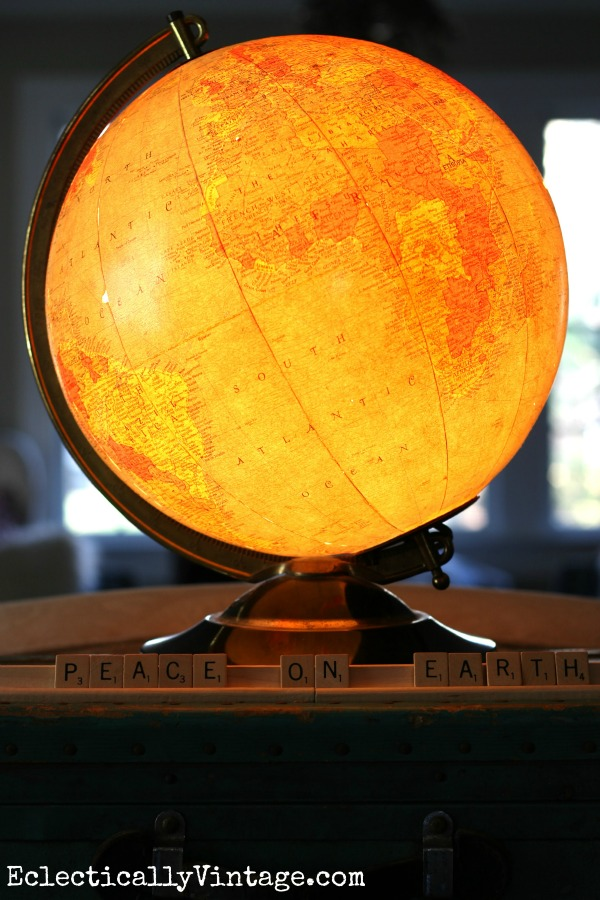 Vintage globe lamp eclecticallyvintage.com