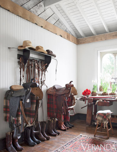 Saddle room in this stunning barn
