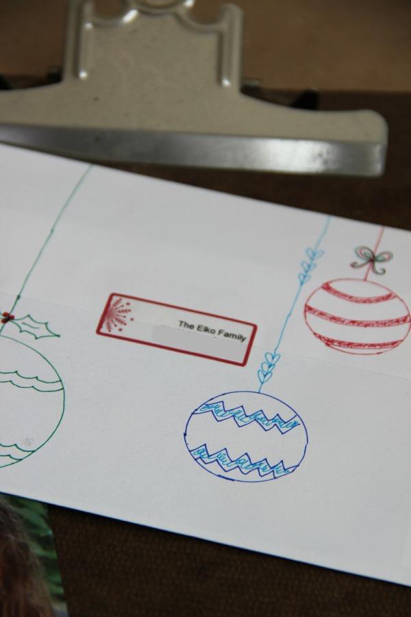 Fun ways to customize a Christmas card envelope kellyelko.com