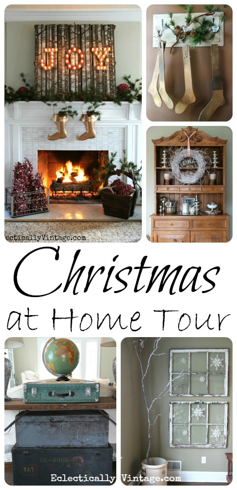 Christmas House Tour - so many creative ideas! eclecticallyvintage.com