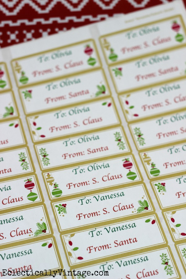 Make printable gift tags and save yourself so much time! kellyelko.com