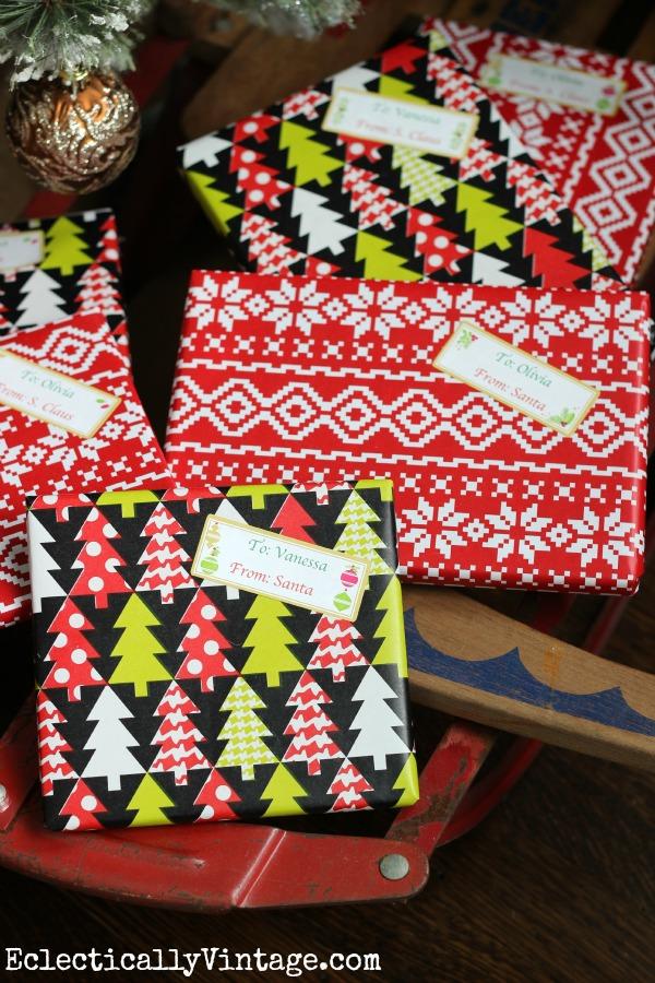 Make printable gift tags - so easy and saves tons of time! kellyelko.com