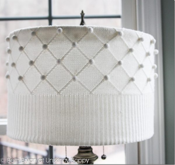 Make a sweater lampshade