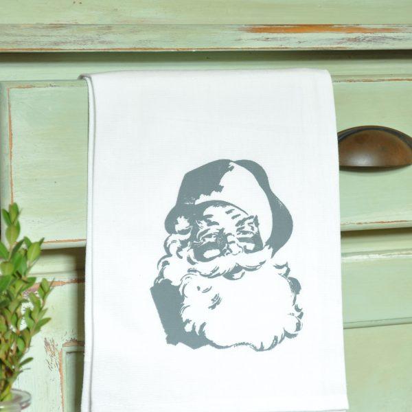 Handmade Santa dishtowel