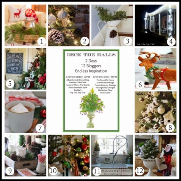 Deck The Halls - 12 Christmas Projects! eclecticallyvintage.com