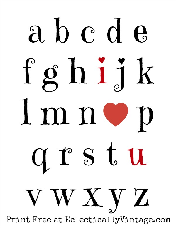 I Love You Free Valentine Printable kellyelko.com
