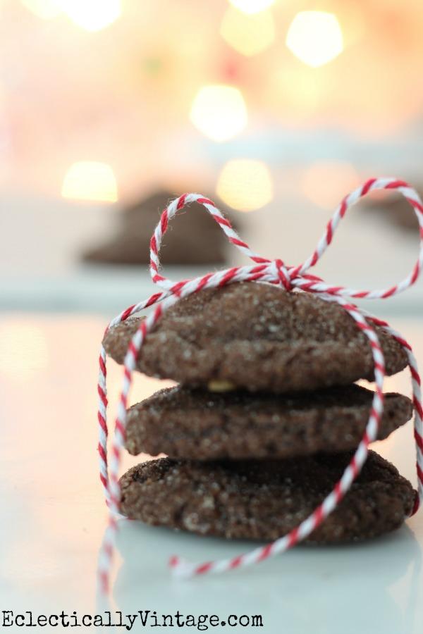 Chewy Chocolate Gingerbread Cookies kellyelko.com