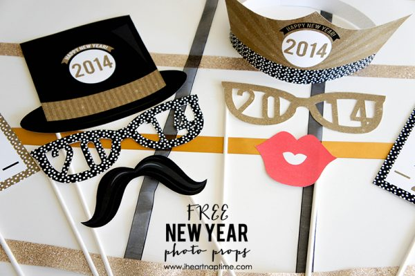 Free New Year Photo Prop Printables