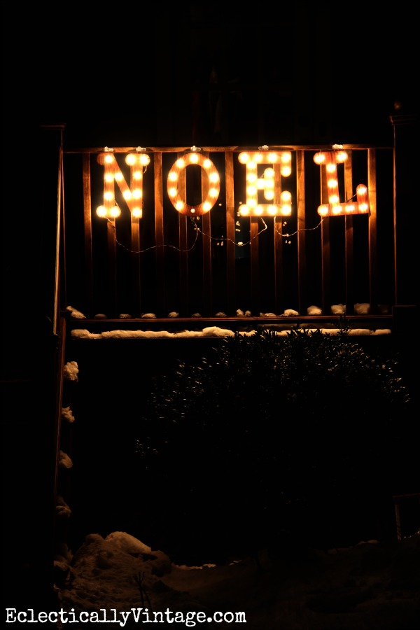 #ad Noel Lighted Marquee Christmas Sign #DamageFreeDIY kellyelko.com