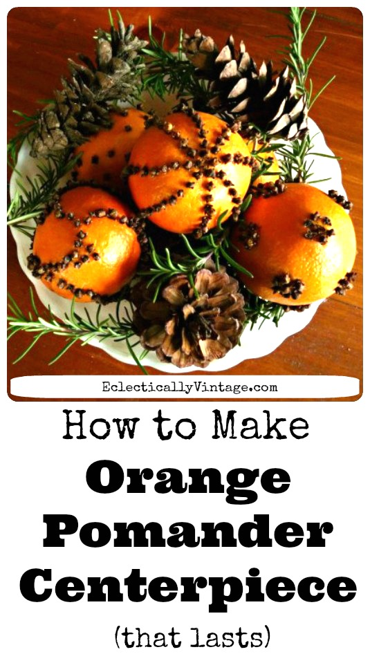 How to make pomanders - that last!  They smell amazing! kellyelko.com