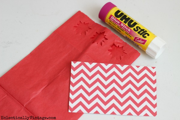 Fun paper bag crafts - this treat bag is so cute!  eclecticallyvintage.com