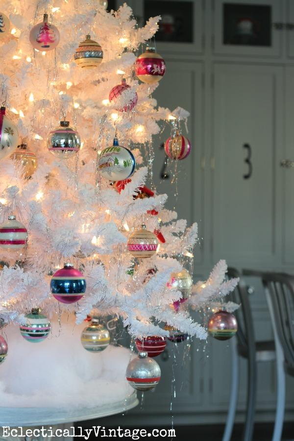 Vintage Shiny Brite ornament tree kellyelko.com