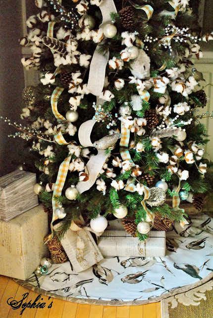 Cotton Christmas tree - it's fabulous!