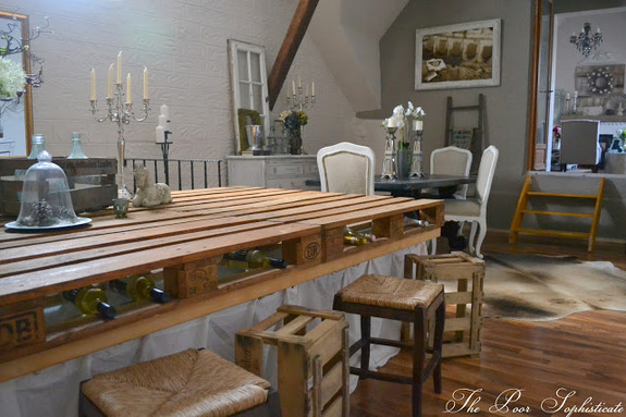 Make a pallet bar - part of this barn tour