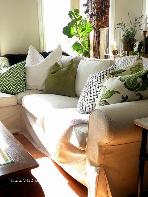 Cozy sofa and home tour