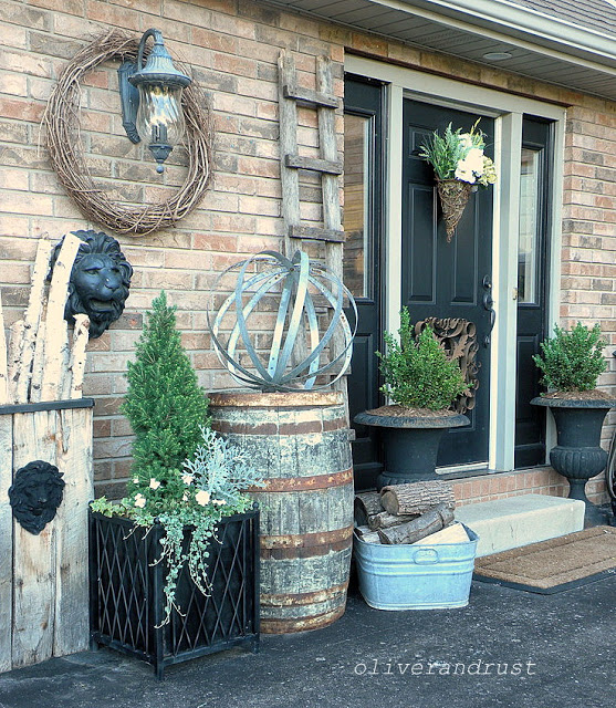 Welcoming front porch with vintage charm