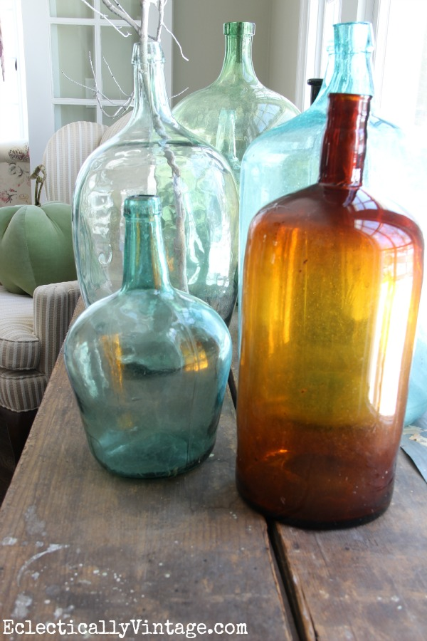 Demijohn collection eclecticallyvintage.com