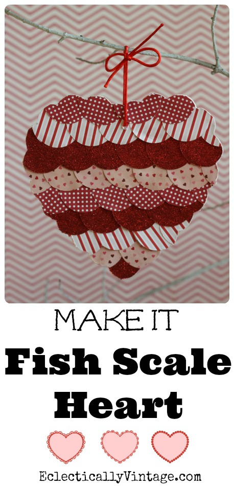 Make a Fish Scale Art Heart eclecticallyvintage.com