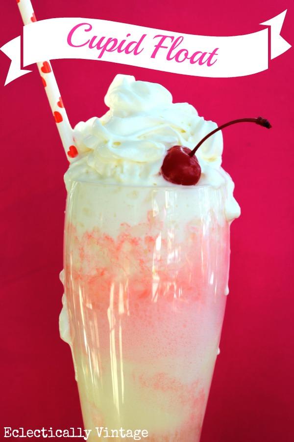 Cupid Float - the perfect Valentine Drink! kellyelko.com