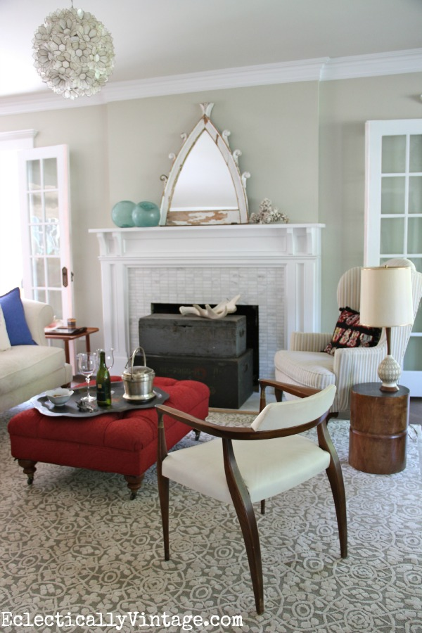 What's your style?  Create an eclectic space using what you love! kellyelko.com