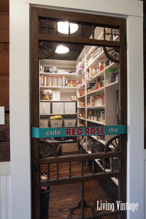 Walk in pantry - love the old screen door