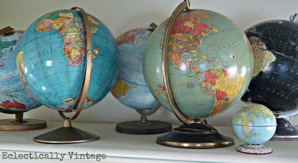 globe collection eclecticallyvintage.com