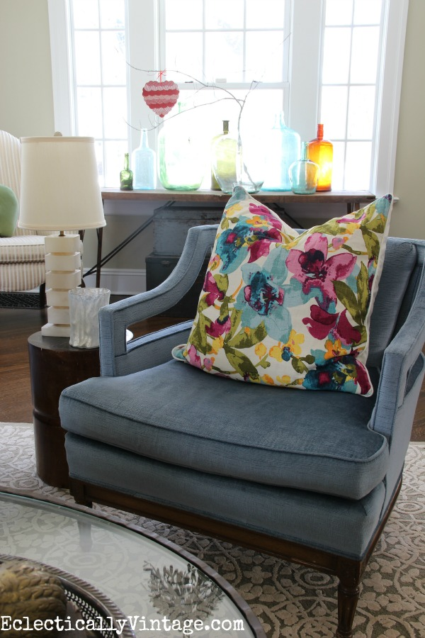 Eclectic living room - see how to create your own eclectic look kellyelko.com