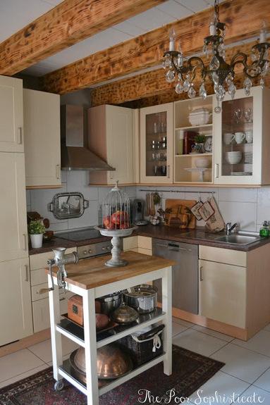 Gorgeous barn kitchen - love the beams