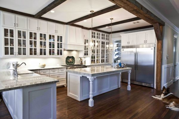 Modern kitchen with old world details