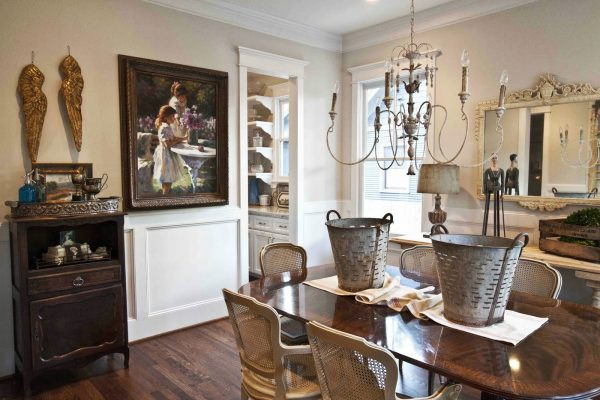 Dining room filled with antique finds
