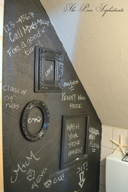 Fun graffiti wall - and make your own chalk paint