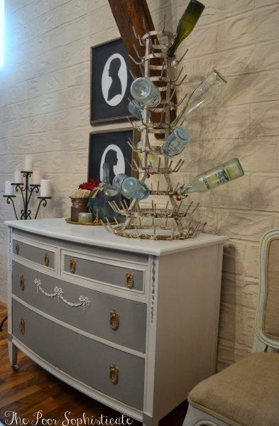 Beautiful dresser and bottle holder