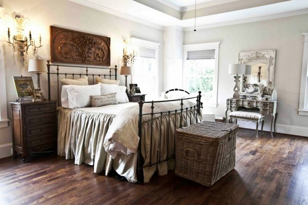 Beautiful antique filled master bedroom