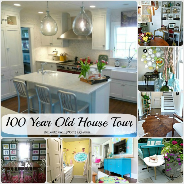 100 Year Old House Tour - every room is so unique! kellyelko.com