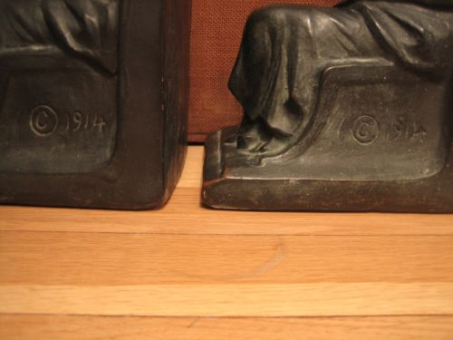 Signed bronze S Morani Bookends - Athena - circa 1914