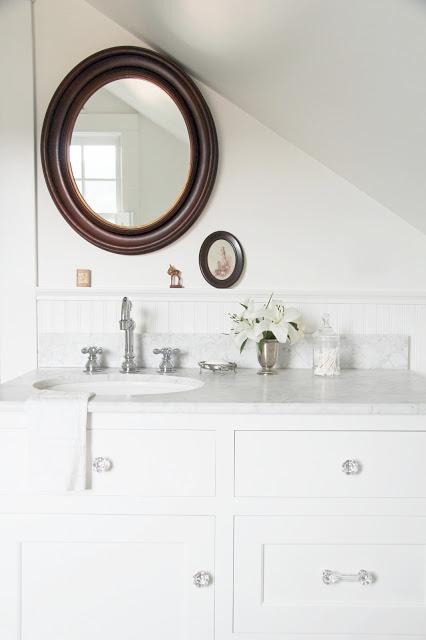 Airy white bathroom under the eaves kellyelko.com