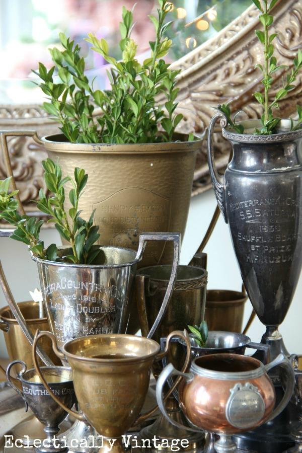 Vintage loving cups eclecticallyvintage.com