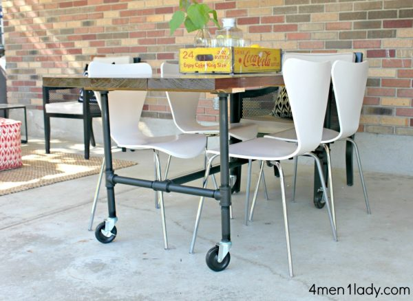 Make an industrial pipe table