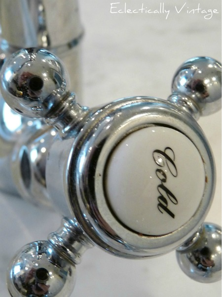 Vintage style hot & cold faucet eclecticallyvintage.com