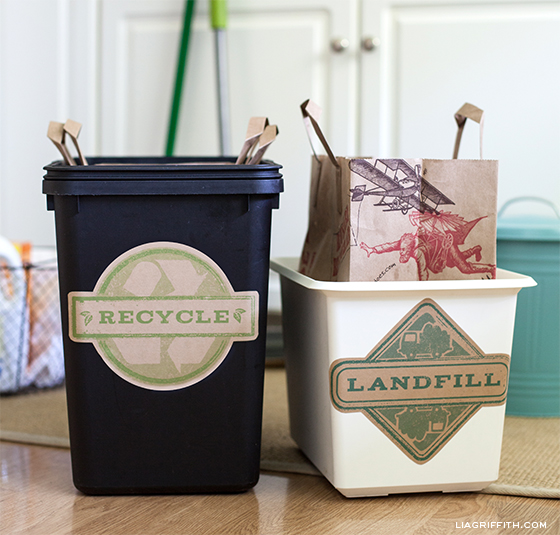 Free printable trash and recycling labels